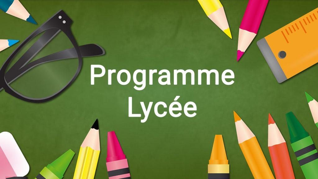Programme lycée