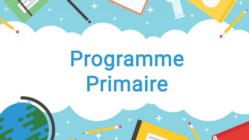 Programme école primaire